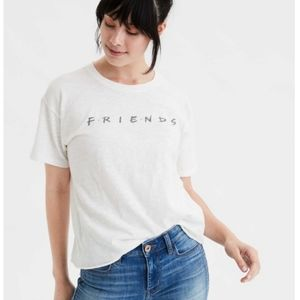 AEO Friends, The TV Series Loose Fit White Tee